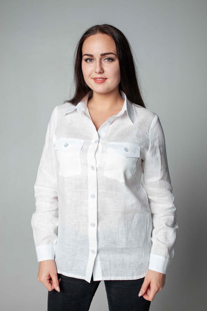 Блузка из льна 21-01а белый