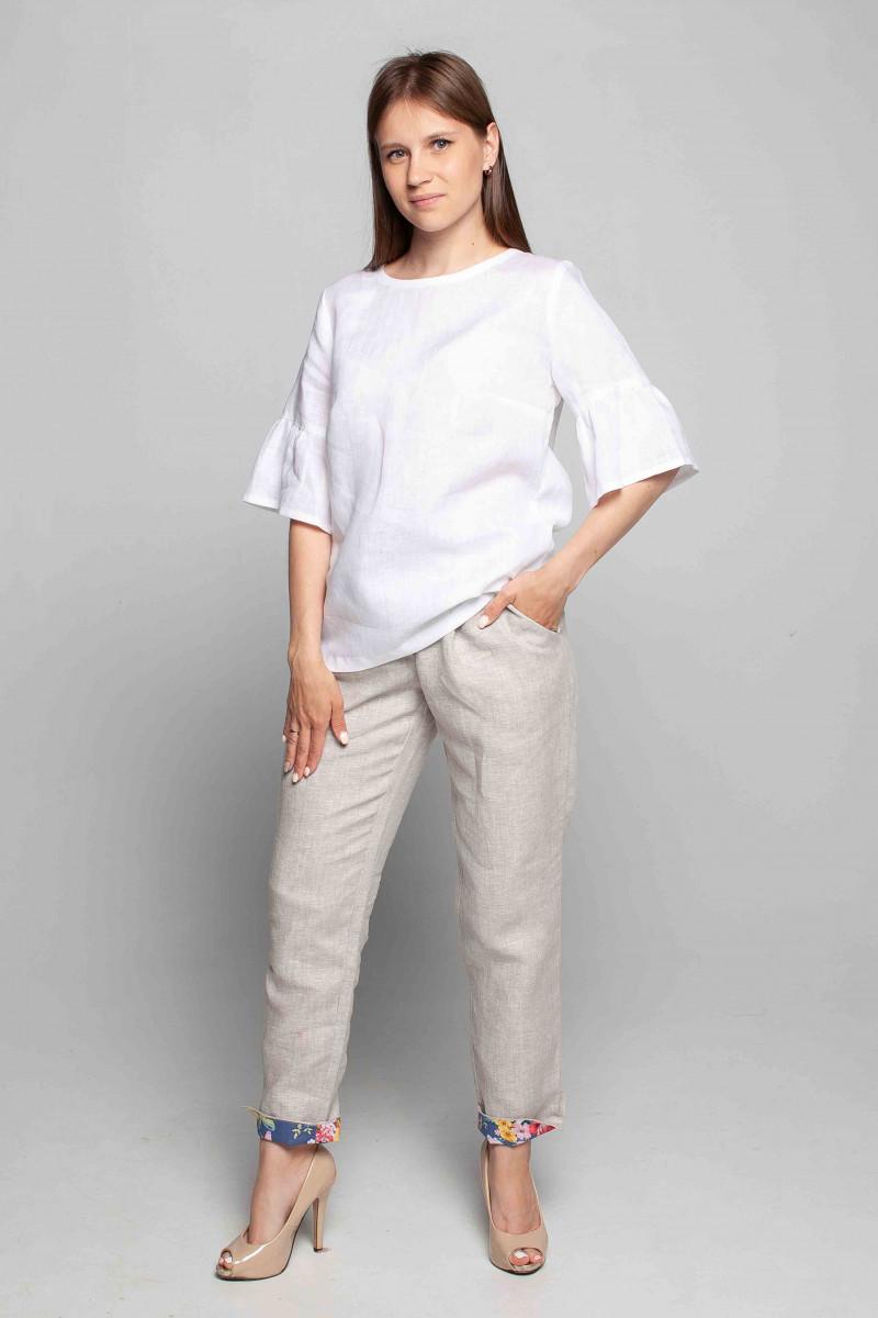 Блуза из льна 4-242 белая