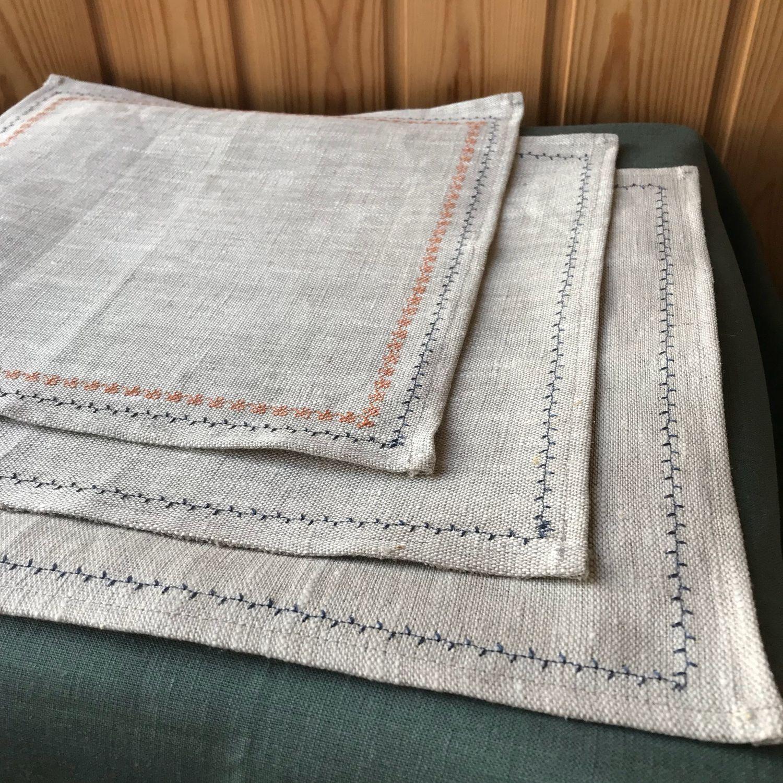 Льняные салфетки ручной работы