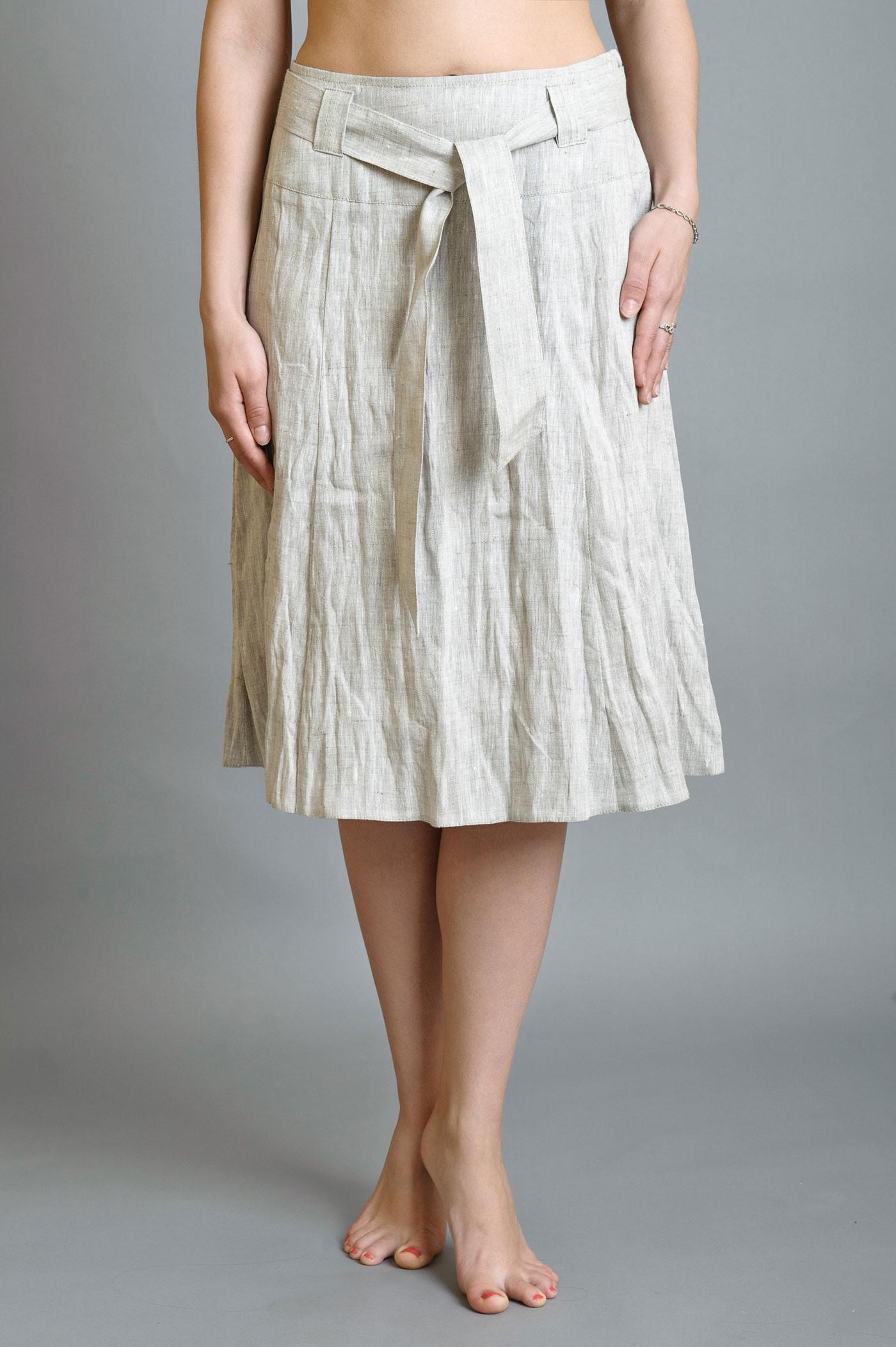 Как сшить юбку из льна с кружевом 85